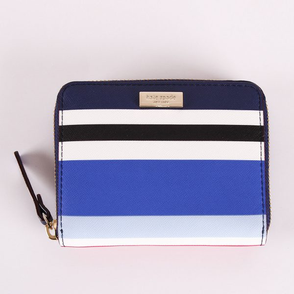 KATE SPADE DARCI LAUREL WAY LEATHER ZIP AROUND MEDIUM WALLET-0