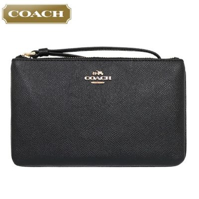 Coach Crossgrain Leather Large Wristlet Wallet-0