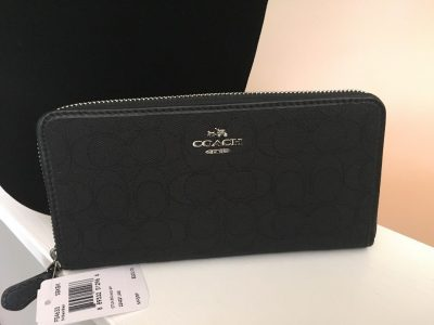 Coach Outline Signature Accordian Zip Wallet -0